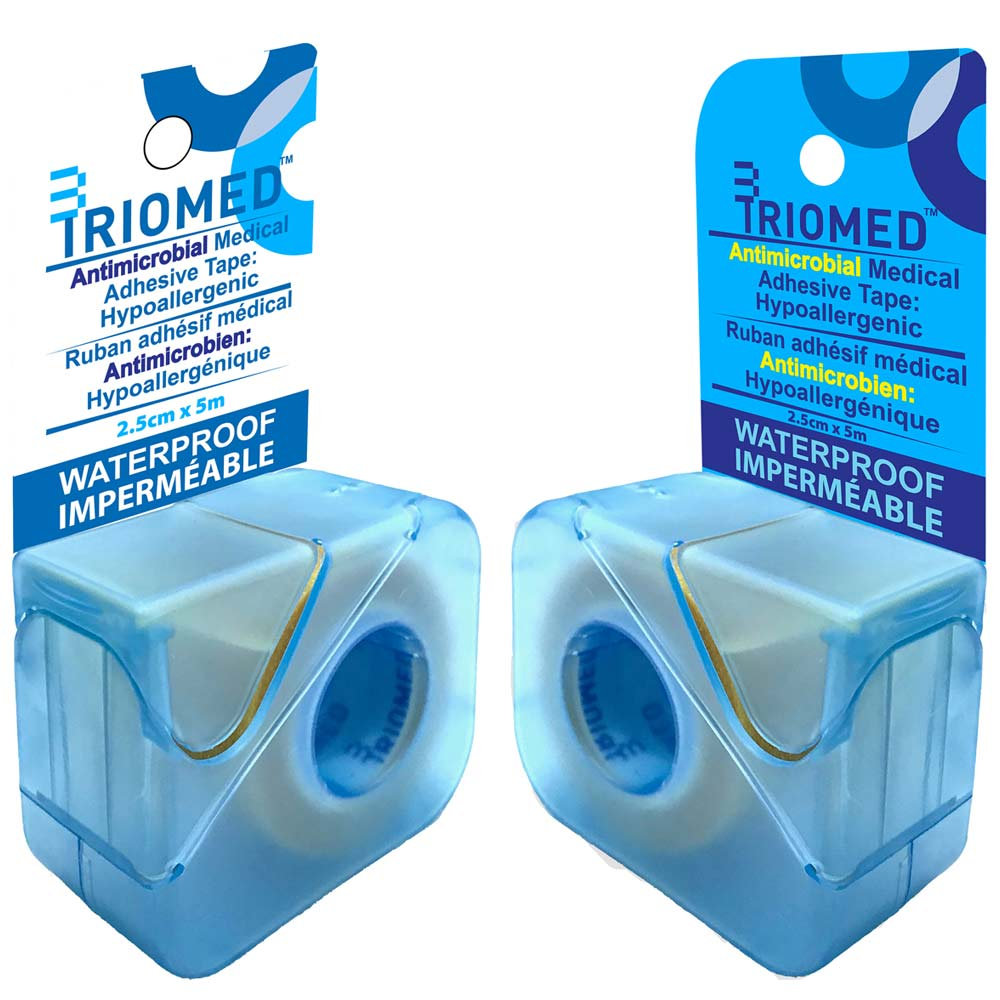 Polyethylene film, Waterproof, Breathable & Hypoallergenic • Dispenser Box • Single roll • 2.5cm x 5m